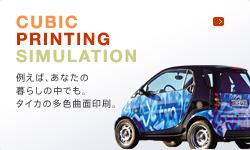 CUBIC PRINTING SIMULATION 例えば、あなたの暮らしの中でも。タイカの多色曲面印刷。